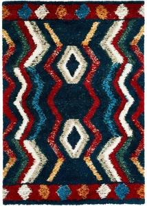Hochflor Teppich in fröhlichen Farben