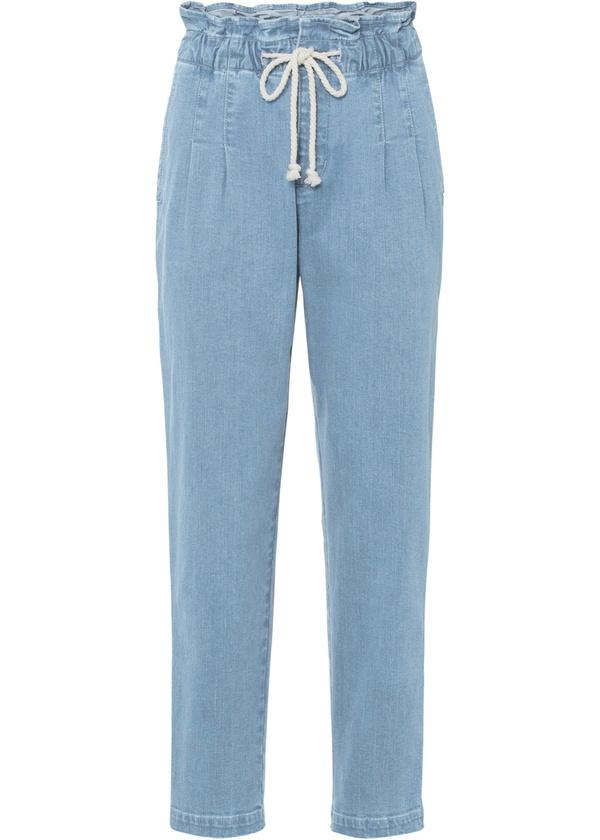 Paper-Bag Jeans aus Bio-Baumwolle