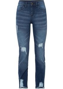 Cropped Jeans mit Destroy-Effekten