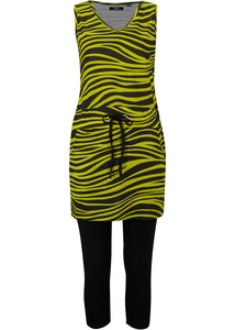 Shirtkleid mit Capri-Leggings, (2-tlg.Set)
