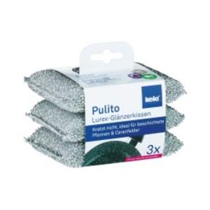 kela Spülschwamm Set PULITO 3-teilig Textil silberfarbig