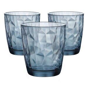Bormioli Rocco Diamond Wasserglas, 3 St., blau