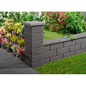 Gartenmauer Normalstein Anthrazit 50 cm x 20 cm x 25 cm