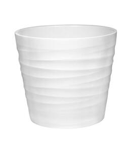 Topf Wave, weiß matt, Ø 12 cm