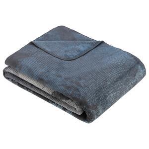 Decke Rockhamton in Blau/Grau ca. 150x200cm
