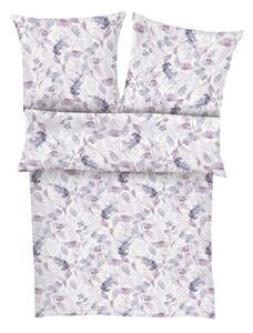 Bettwäsche Barelly in Violett/Weiß ca. 135x200cm