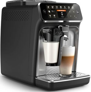 Philips Kaffeevollautomat 4300 Series EP4346/70 LatteGo, silber/mattschwarz