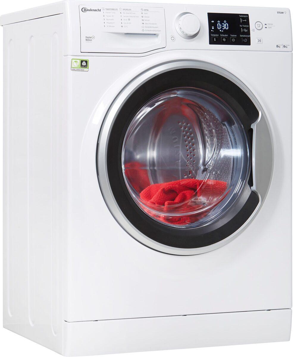 Bild 1 von BAUKNECHT Waschtrockner WT SUPER ECO 8614, 8 kg, 6 kg, 1400 U/min