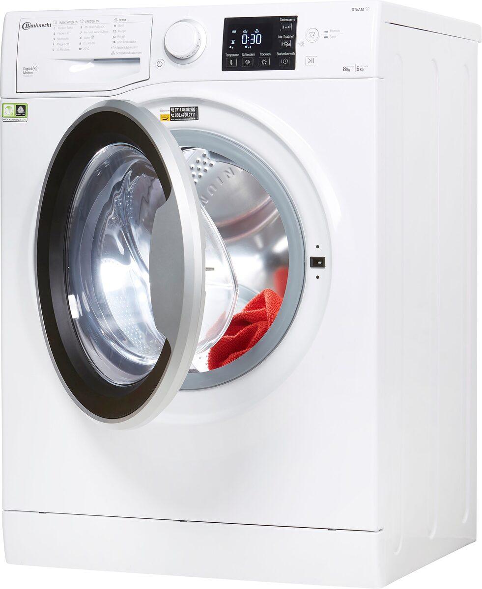 Bild 2 von BAUKNECHT Waschtrockner WT SUPER ECO 8614, 8 kg, 6 kg, 1400 U/min