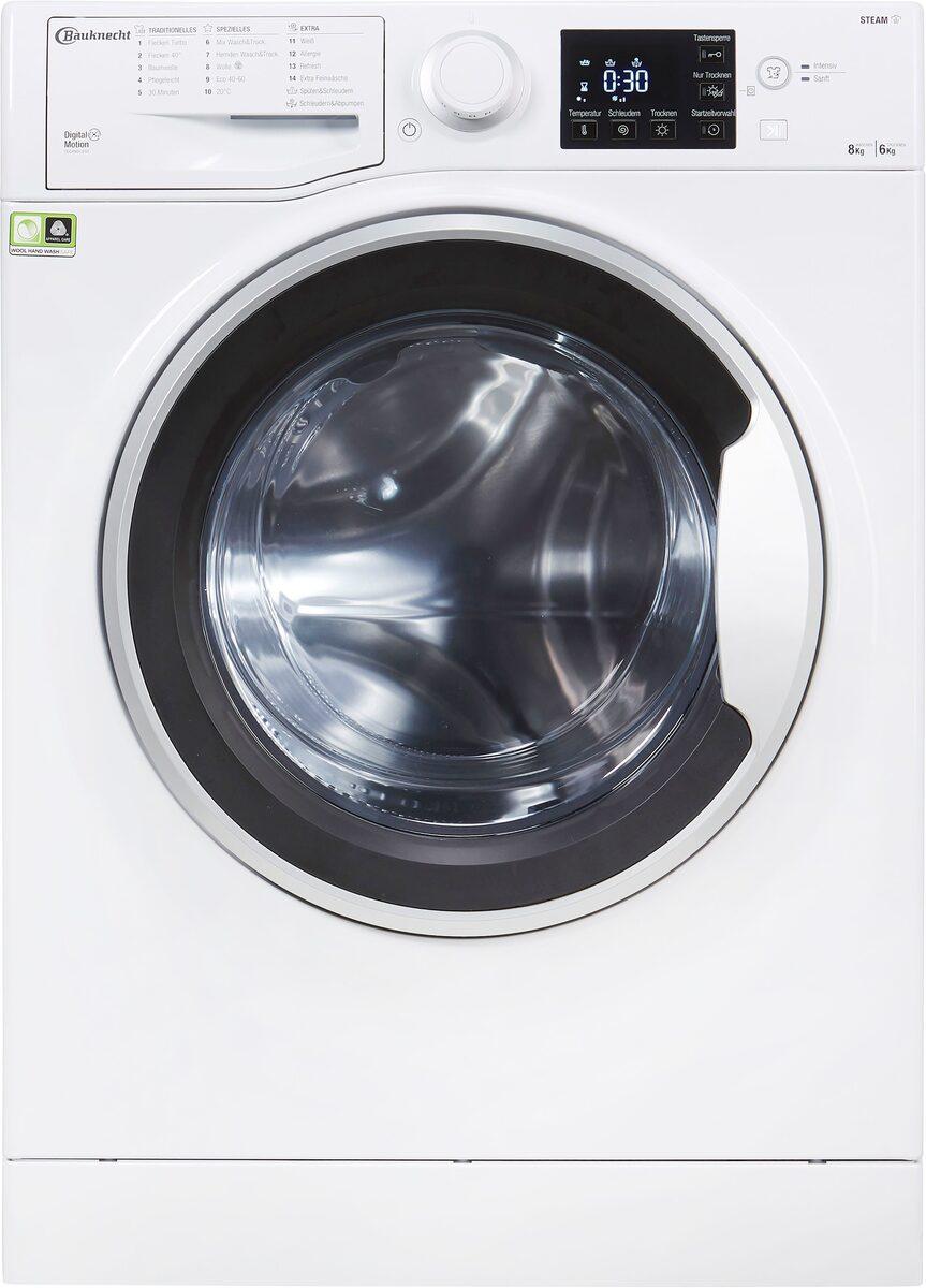 Bild 3 von BAUKNECHT Waschtrockner WT SUPER ECO 8614, 8 kg, 6 kg, 1400 U/min