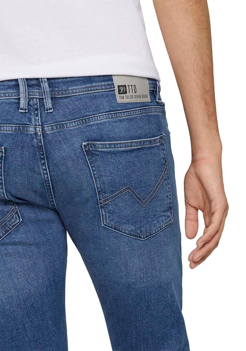 Bild 3 von TOM TAILOR Denim 5-Pocket-Jeans mit Leder-Badge