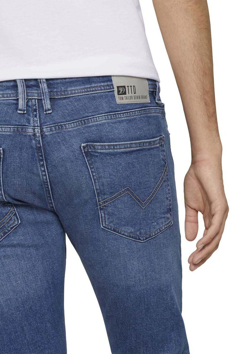 Bild 4 von TOM TAILOR Denim 5-Pocket-Jeans mit Leder-Badge
