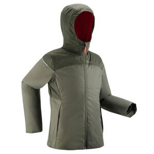 Wanderjacke Winterwandern SH100 wasserdicht X-Warm 0°C Kinder Gr.122–170 khaki