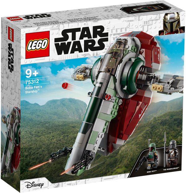 LEGO® Konstruktionsspielsteine »Boba Fetts Starship™ (75312), LEGO® Star Wars™ Mandalorian«, (593 St), Made in Europe