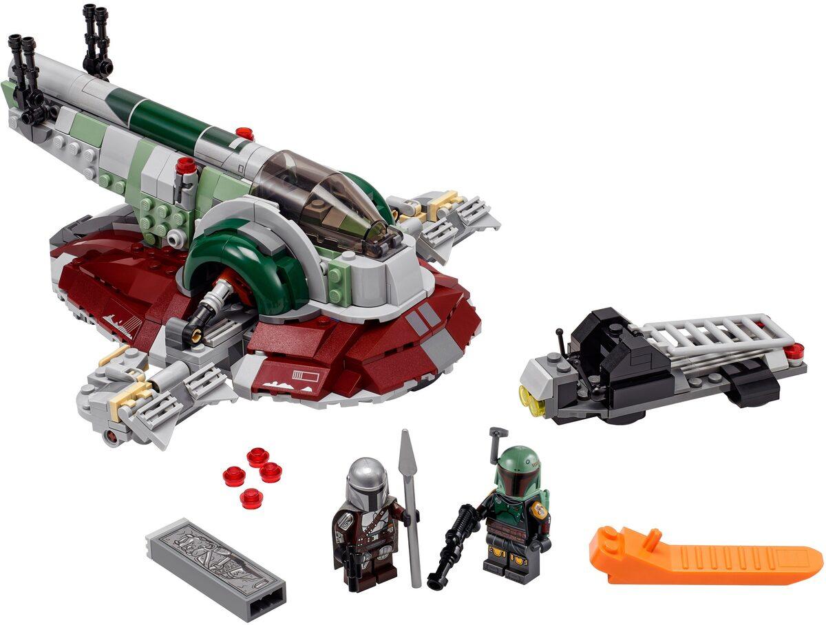 Bild 3 von LEGO® Konstruktionsspielsteine »Boba Fetts Starship™ (75312), LEGO® Star Wars™ Mandalorian«, (593 St), Made in Europe