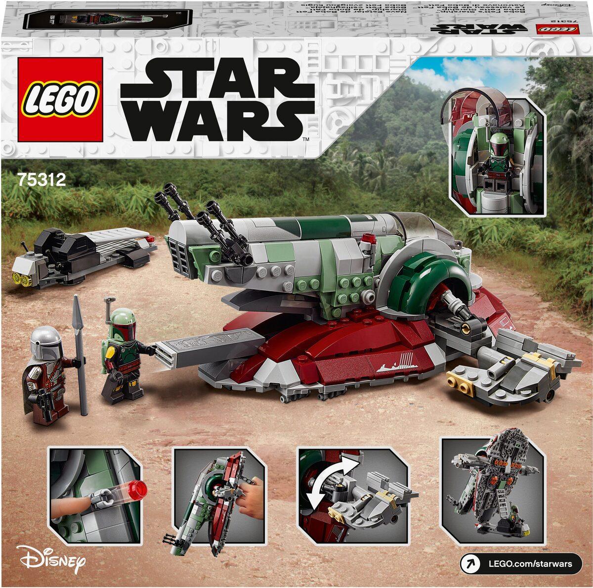 Bild 5 von LEGO® Konstruktionsspielsteine »Boba Fetts Starship™ (75312), LEGO® Star Wars™ Mandalorian«, (593 St), Made in Europe