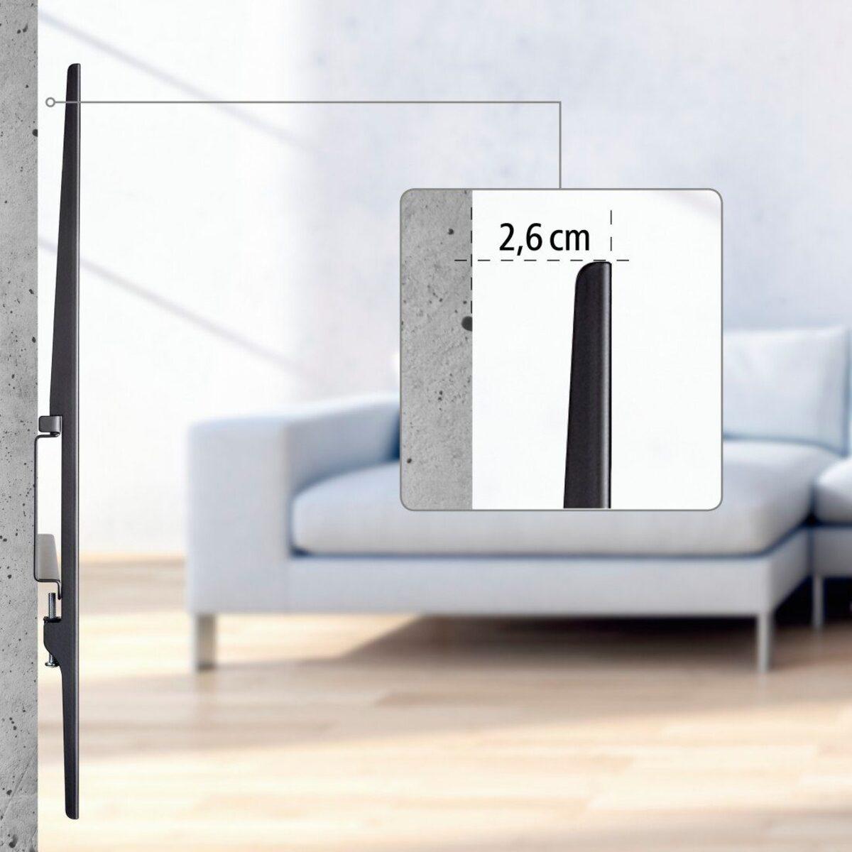 """Bild 4 von Hama »Wandhalter Schwarz« TV-Wandhalterung, (bis 90 Zoll, FIX """"Strong"""", 800 x 400, 229 cm (90)"""