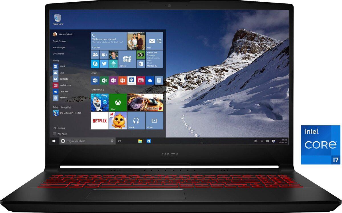 Bild 1 von MSI Katana GF66 11UC-228 Gaming-Notebook (39,6 cm/15,6 Zoll, Intel Core i7, GeForce RTX™ 3050, 512 GB SSD)