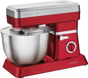 BOMANN Küchenmaschine KM 398 CB ROT, 1200 W, 6,3 l Schüssel