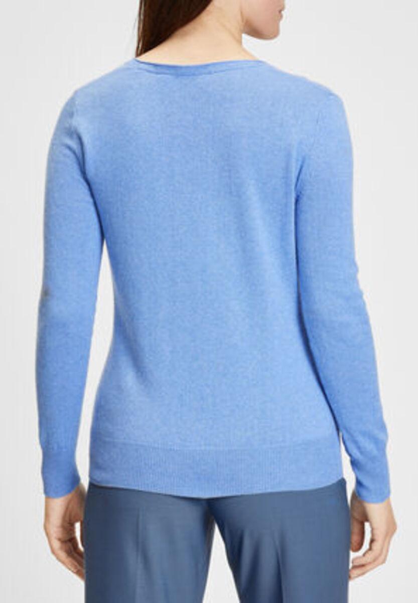 Bild 3 von Galeria Seide-Cashmere Pullover, V-Ausschnitt, Rippbündchen, uni, für Damen