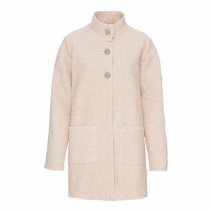 Damen-Mantel mit Felloptik