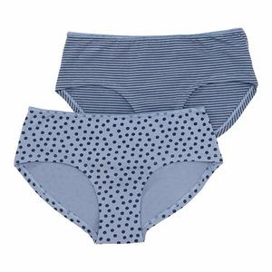 Damen-Panty mit Ringelmuster, 2er Pack