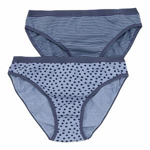 Damen-Minislip mit Punkte-Muster, 2er Pack