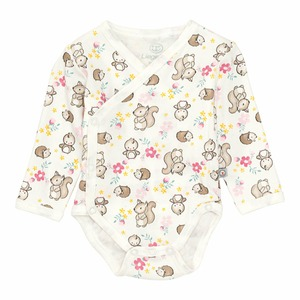 Baby-Mädchen-Wickelbody mit Waldtieren