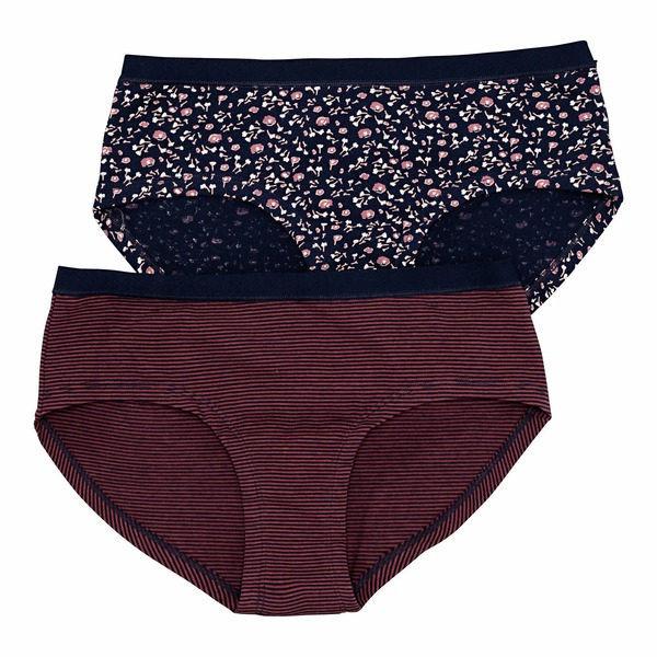 Damen-Panty mit Blümchen-Muster, 2er Pack