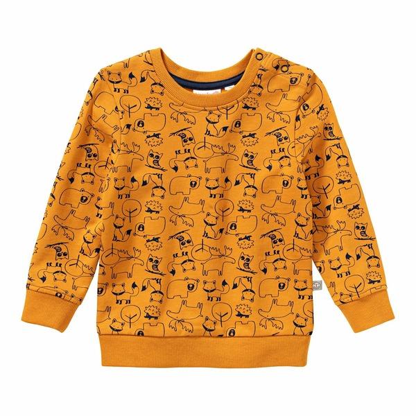 Baby-Jungen-Sweatshirt mit Waldtier-Muster