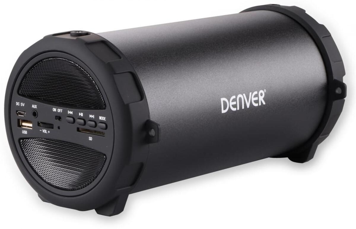 Bild 2 von Denver Bluetooth Lautsprecher BTS-53 Schwarz   3000 mAh Akku   Tragegurt