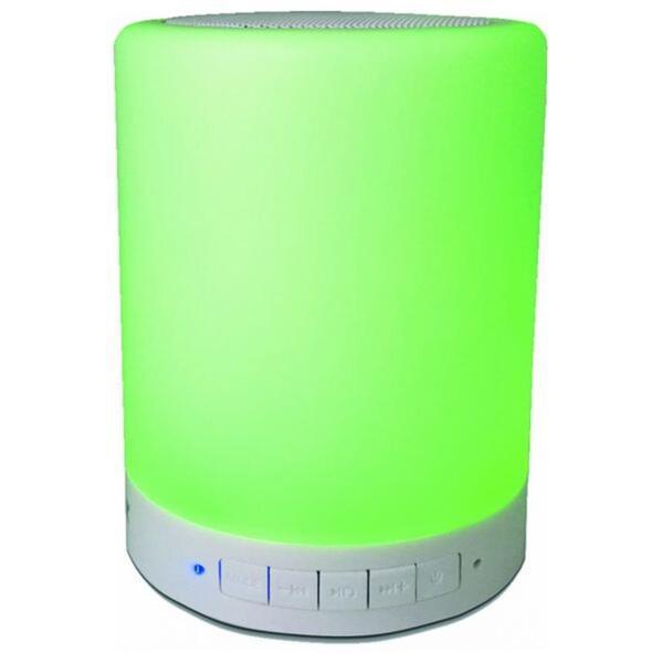 Denver BTL-30, 3 W, Verkabelt & Kabellos, 10 m, Mono portable speaker, Weiß, Zylinder