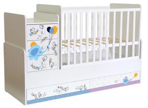 Polini Kids Kombi-Kinderbett Simple 1100 mit Motiv, 1442.9.1