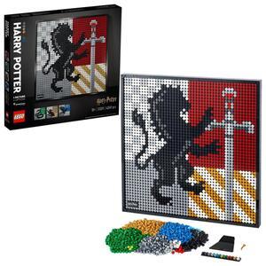 LEGO 31201 Art Harry Potter Hogwarts Wappen Set, Wanddekor, DIY Puzzle für Erwachsene