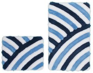 Obsession Badteppich In Style 950 Blau // Blue WC Set 55x90/55x45 cm
