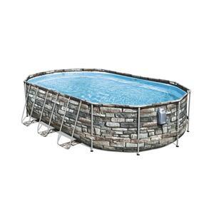 Bestway Comfort Jet™ Frame Pool Komplett-Set, oval, 610x366x122cm, 56719