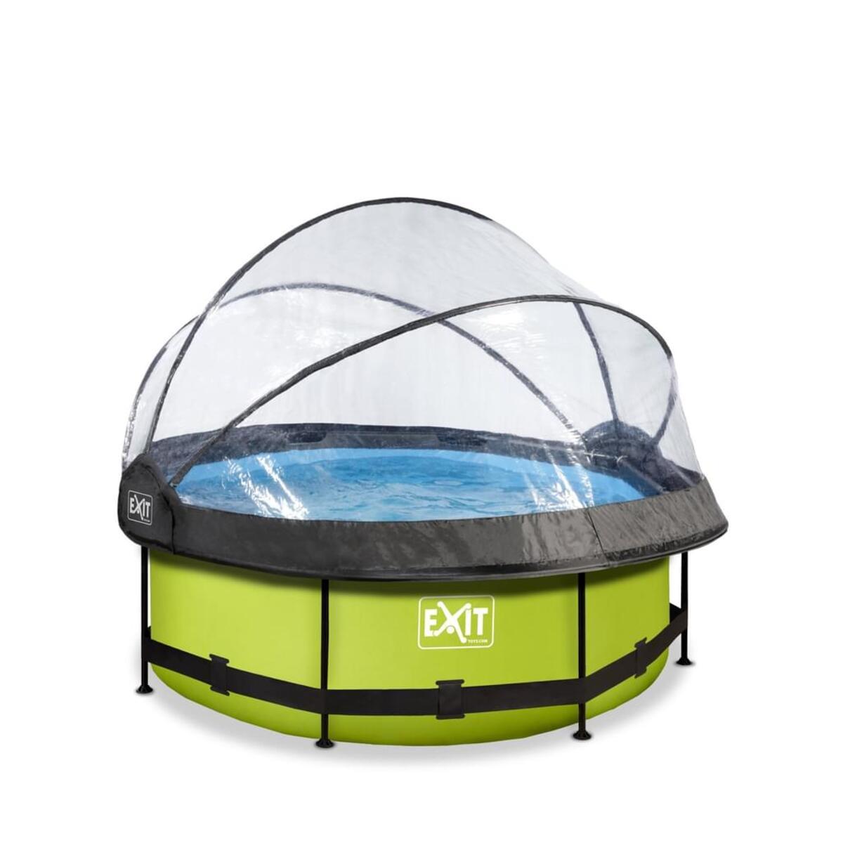 Bild 1 von EXIT Lime Pool ø244x76cm mit Abdeckung und Filterpumpe - grün