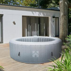 Outdoor Whirlpool SPLASH - Beton   aufblasbarer Whirlpool, Jacuzzi aufblasbar