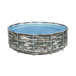Bestway Power Steel™ Frame Pool Komplett-Set, rund, 427x122cm, 56993