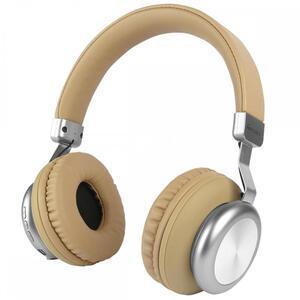 Fontastic Prime Drahtloser On-Ear Kopfhörer BaXx Beige/Silber BT + Line-In, Bass+, MIkrofone, Volume Control