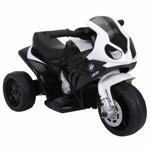 HOMCOM Elektro Kindermotorrad Kinderfahrzeug Lizensiert von BMW S1000RR Elektro-Dreirad mit Akku Stahl Schwarz 66 x 37 x 44 cm