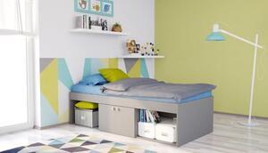Polini Kids Kinderbett Jugendbett Stauraumbett Simple grau