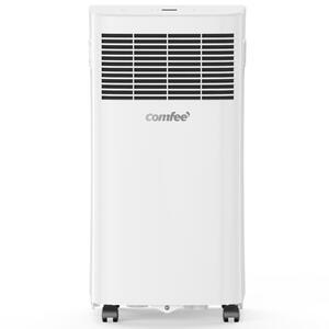 Comfee Mobiles Klimagerät MPPHA-05CRN7, 3-in-1 Klimaanlage mit Abluftschlauch, Kühlen&Entfeuchten&Ventilieren,  5000 BTU, 1.5kW, für Räume ca. 50m³(17㎡), EEK A