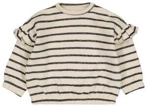 HEMA Babysweater Streep Eierschalenfarben
