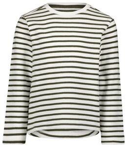 HEMA Kinder-Sweatshirt, Streifen Graugrün