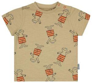 HEMA Baby-T-Shirt, Frosch Beige