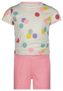 HEMA Kinder-Kurzpyjama, Punkte Eierschalenfarben