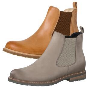 Tamaris Damen Chelsea Boots Leder Stiefeletten 1-25056-27, Größe:36 EU, Farbe:Grau