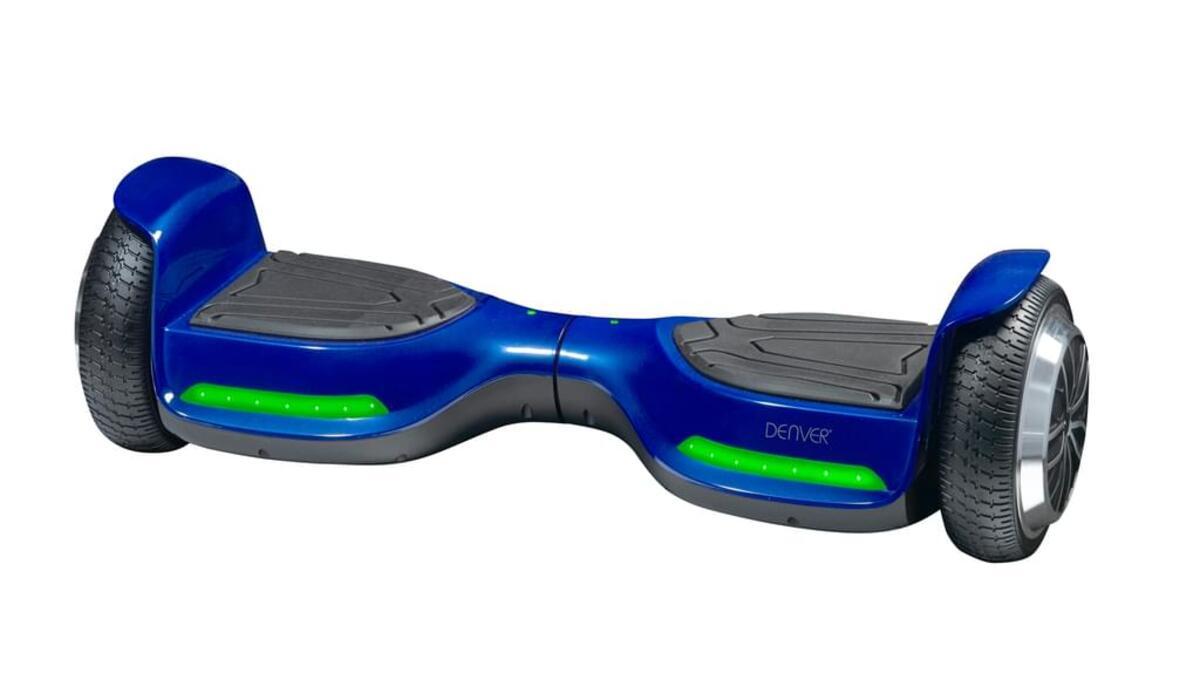 Bild 2 von Denver DBO-6520 Hoverboard 6,5 Zoll,  Farbe Blau, 115101100220