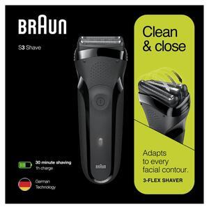 Braun Series 3 300 Elektrorasierer, Rasierer für Herren, schwarz
